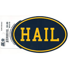 Pine University Of Michigan Hail Euro Decal