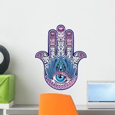 Hamsa Hand With Eye Wall Decal Wallmonkeys Com