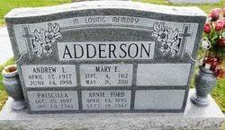 Priscilla Hughes Adderson (1897-1961) - Find A Grave Memorial