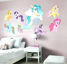 Colorful My Little Pony Wall Sticker For Bedroom Decor Ideas