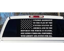 Pledge Decal Etsy