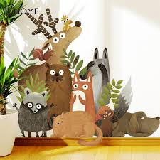 Stickers Forest Animals Elk Fox Rabbit Wall Stickers For Kids Room Children Wall Decal Nursery Bedroom Decor Poster Mural Art Decorating Stickers Walls Decorating Wall Stickers From Home Furnishing88 15 74 Dhgate Com