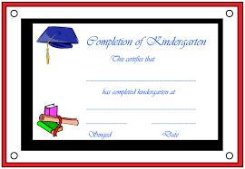 kindergarten graduation certificate template best designs