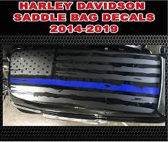 2014 2020 Harley Davidson Police Saddlebag Thin Blue Line American Flag Decal 2014 2015 2016 2017 2018 2019 24 99 44 99 Country Boy Customs Store