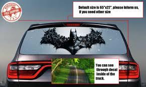 Batman Rear Window Perforated Decal Stickers Vinyl Wrap Car Auto Truck Van 1028 For Sale Online Ebay
