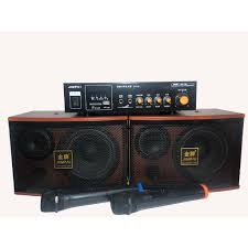 loa karaoke bluetooth cao cấp kèm 1 âm ly tặng 2 míc bluetooth