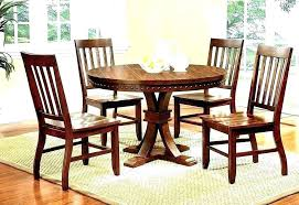 black dining round table set for wooden
