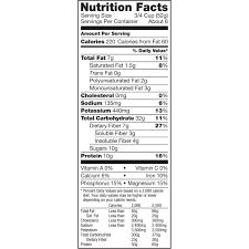 kashi go lean nutrition label