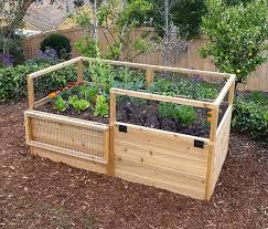 3 X 6 Raised Garden Bed With Hinged Fencing Diy Raised Garden Cedar Raised Garden Beds Cedar Garden