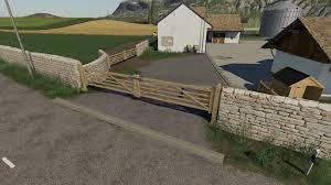 Fs19 Wooden Gates Fences And Stone Walls V1 0 0 0 Ls17mods Com Farming Simulator 2019 Mods Ls17 Mods