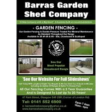 Barras Garden Shed Company Glasgow Log Cabins Yell