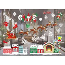 Merry Christmas Window Decal Removable Sticker Wall Sticker Home Decor Style A