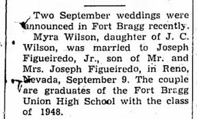 Joseph Figueiredo Jr and Myra Wilson married in Reno - Newspapers.com