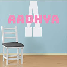 Amazon Com Custom Name Initial Wall Decal Choose Your Own Name Initial And Font Multiple Sizes And Colors Wall Decal Sticker Girl S Custom Name And Initial Wall Decal Sticker Girl S Nursery Room