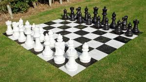 garden chess set giant luxury edition