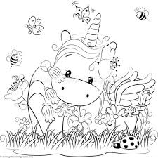Cute Unicorn 3 Coloring Pages Getcoloringpages Org Boyama