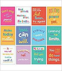 carson dellosa mini posters growth mindset quotes classroom