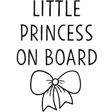 Little Princess Car Window Decal 904 Custom