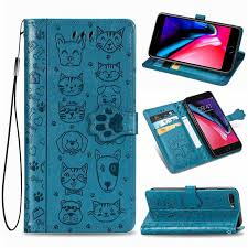 kitten and puppy leather wallet case