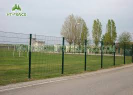 Sunshine Proof 868 Double Loop Wire Fence Green Pvc Coated Wire Mesh Fencing