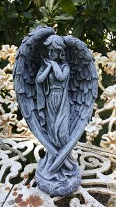 solid concrete antique style angel