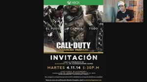 Invitacion Evento Call Of Duty Advanced Warfare Gana Un Xbox One