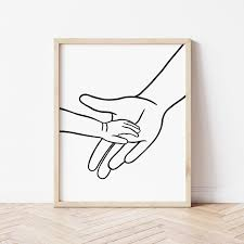 Mother And Child Holding Hands Printable Wall Art Hands Line Etsy In 2020 Printable Wall Art Printable Art Line Art