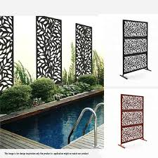 E Joy 6 Ft H X 4 Ft W Laser Cut Metal Fence Panel Wayfair
