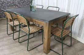 zinc top dining table large rustic