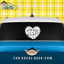 All We Need Is Love Heart Car Window Decal Sticker Love Decals
