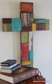 Beyond The Picket Fence Patchwork Scrap Wood Cross Scrap Wood Crafts Wood Crosses Scrap Wood Projects