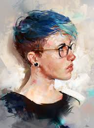 Colour Study, Aaron Griffin | Digital painting portrait, Digital portrait,  Portrait painting