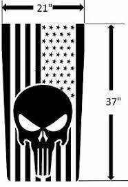 Usa Made New Punisher Skull American Flag Hood Vinyl Decal Fits Jeep Wrangler Ebay