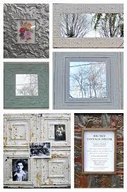 tin ceiling tile frames mirrors