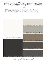 exterior trim colors color palette