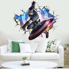 3d The Avengers Wall Sticker Decals Boys Room Wall Decals