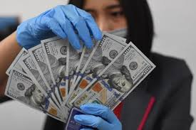 Dollar climbs down as panic subsides, on course for biggest loss ...