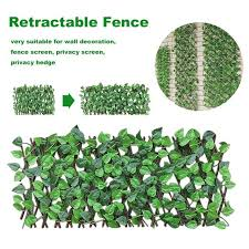 Hot Offer 808d39 Expandable Faux Privacy Fence Retractable Trellis Fence Artificial Garden Plant Fence Privacy Screen Dropshipping Cicig Co