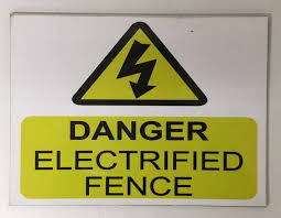 Danger Electrifie Fence Small Mccabe Feeds