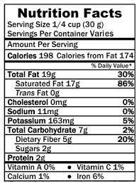 nutrition facts coconut flakes soul