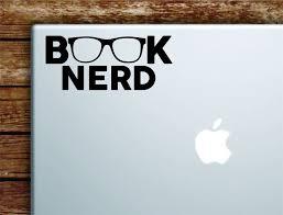 Book Nerd Laptop Wall Decal Sticker Vinyl Art Quote Macbook Apple Deco Boop Decals