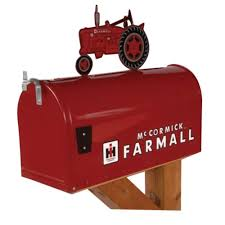 tractor mailbox with topper farmall