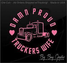 Truckers Wife Decal Ebay