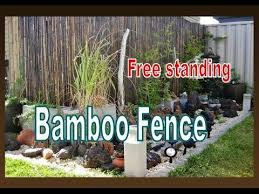 Free Standing Bamboo Fence Installation Liz Kreate In The Garden Youtube Bamboo Fence Free Standing Fence Building A Fence