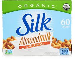 silk organic almond milk 3 x 64 oz