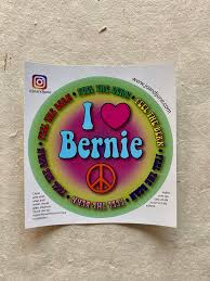 Vinyl Bernie Sanders Sticker Proceeds Go To Bernie S Campaign Jo And June