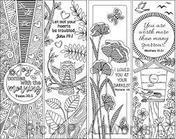 Set Van 8 Bijbel Vers Kleurplaten Bladwijzers Bookmark Doodles