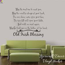 Irish Blessing Wall Sticker Living Room Bedroom Old Irish Blessing Saying Inspiration Motivation Quote Wall Decal Vinyl Decor Quote Wall Decal Wall Stickermotivational Quotes Aliexpress