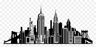 New York City Skyline Wall Decal Silhouette New York City Skyline Silhouette Transparent Hd Png Download Vhv