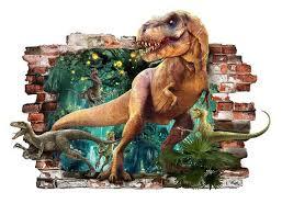 Dinosaur Wall Stickers Dino 3d Boys Girls Bedroom Vinyl Wall Etsy